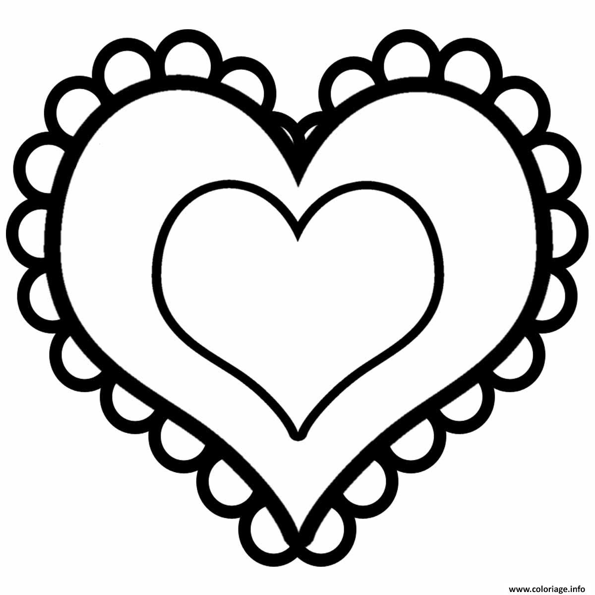 Coloriage Coeur Saint Valentin 15 Dessin  Imprimer