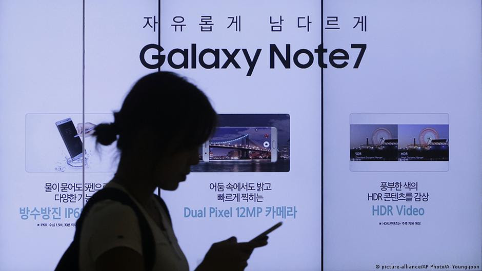 US regulator calls for recall of Samsung Galaxy Note 7 smartphone