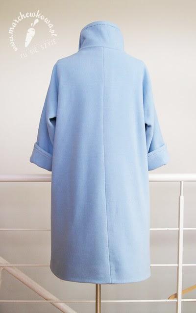szyciowy blog roku 2012, marchewkowa, moda, retro, vintage, szycie, pattern, wykrój, Burda, płaszcz, collar, Jackie Kennedy Style Coat