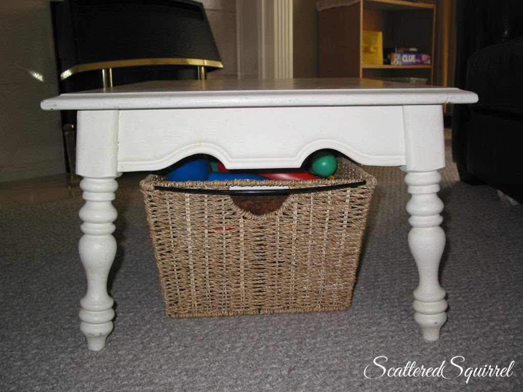 Baskets Under Coffee Table - Home Decorating Ideas