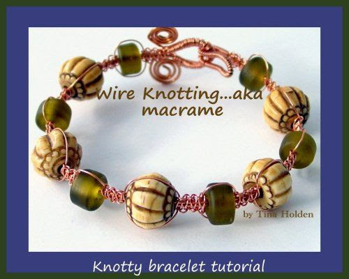 Wire Macrame Bracelet - Wire weaving Tutorial