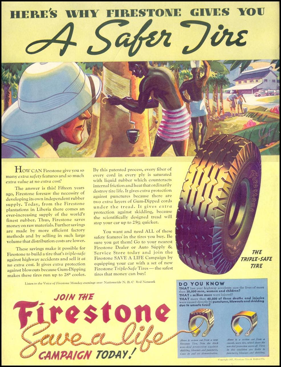 FIRESTONE TIRES LIFE 09/13/1937 INSIDE FRONT