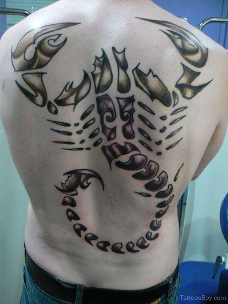 Scorpion Tattoo On Back Tattoo Designs Tattoo Pictures