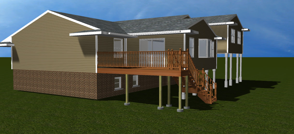 3d Tri Level Home Addition Design Steve Way Builders Llc