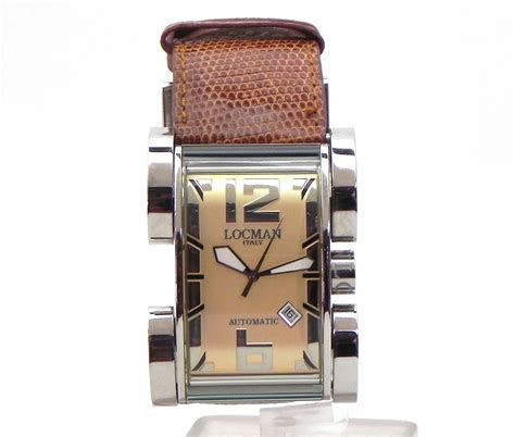 locman latin lover  stainless steel automatic date