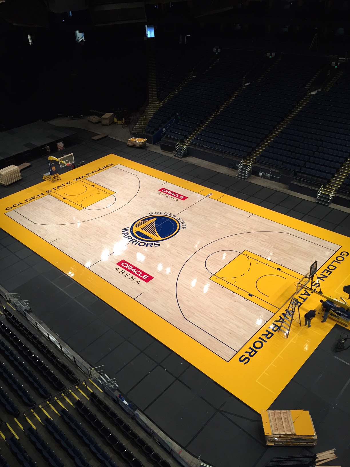Champions Of Sport Connor Sports Installs The Golden State Warriors