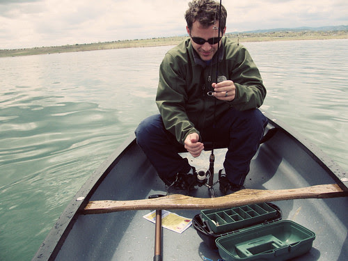 fishing + canoe = happy husband