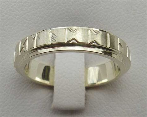 Womens Gold Runic Wedding Ring ONLINE in the UK!