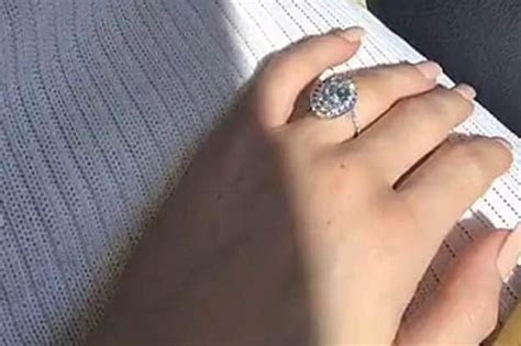 Kylie Jenner shows off ring