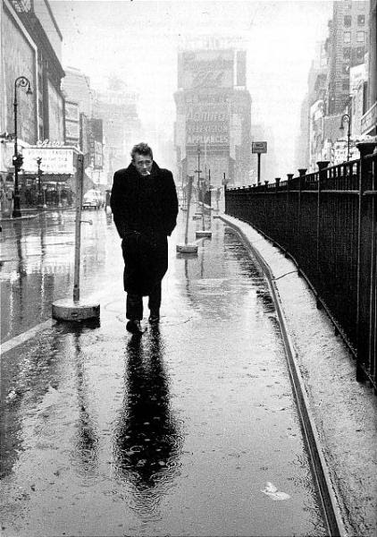James Dean in Times Square, 1955 © Dennis Stock