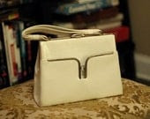 White Vintage Ladies Who Lunch Handbag