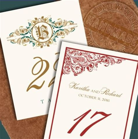 Custom Wedding Table Numbers and Unique Table Card Ideas