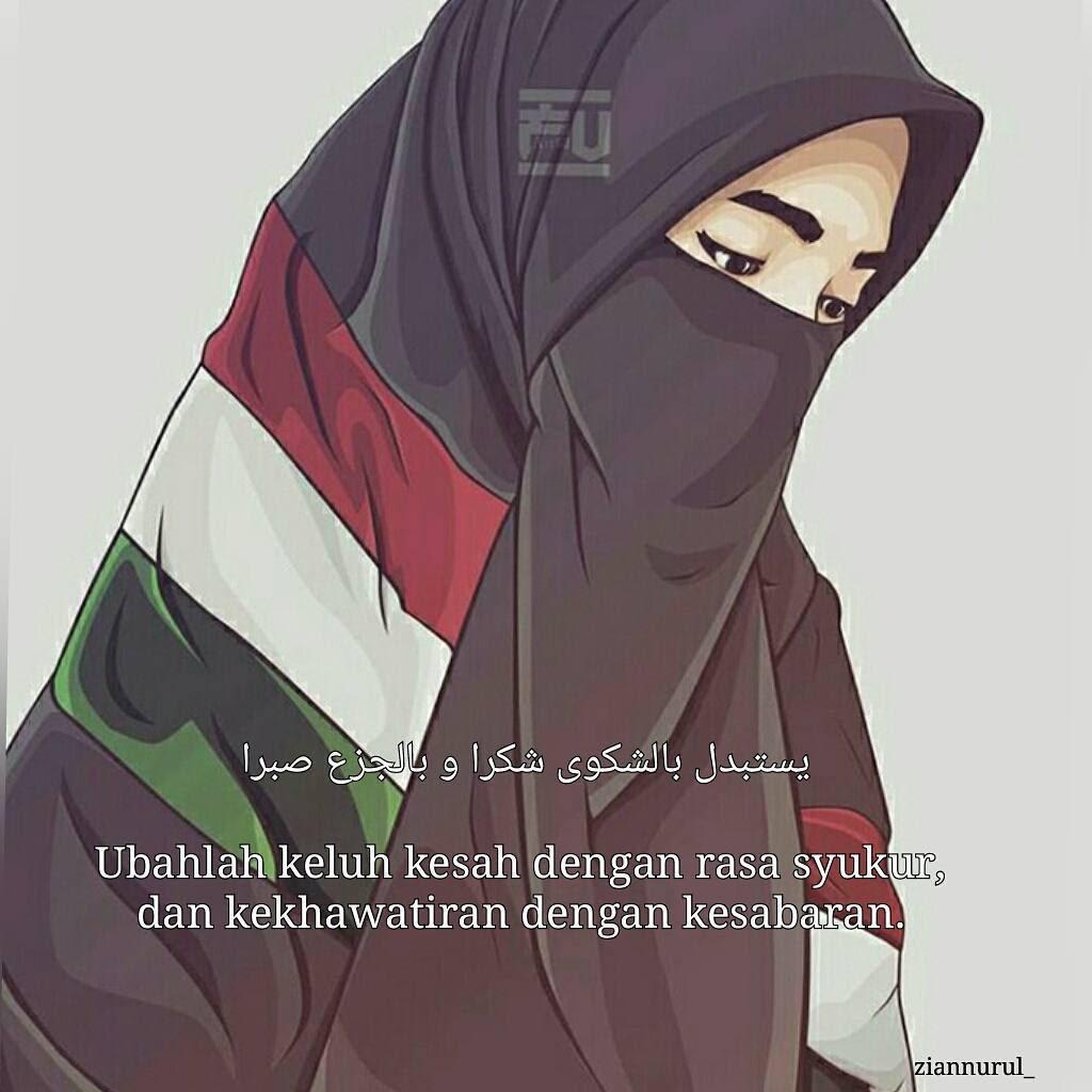 Gambar Kartun Muslimah Bercadar Palestina Kartun Muslimah
