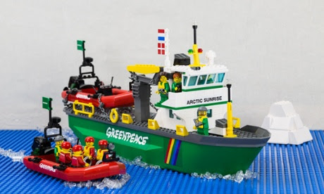 Lego Arctic Sunrise  built by Greenpeace Danish team