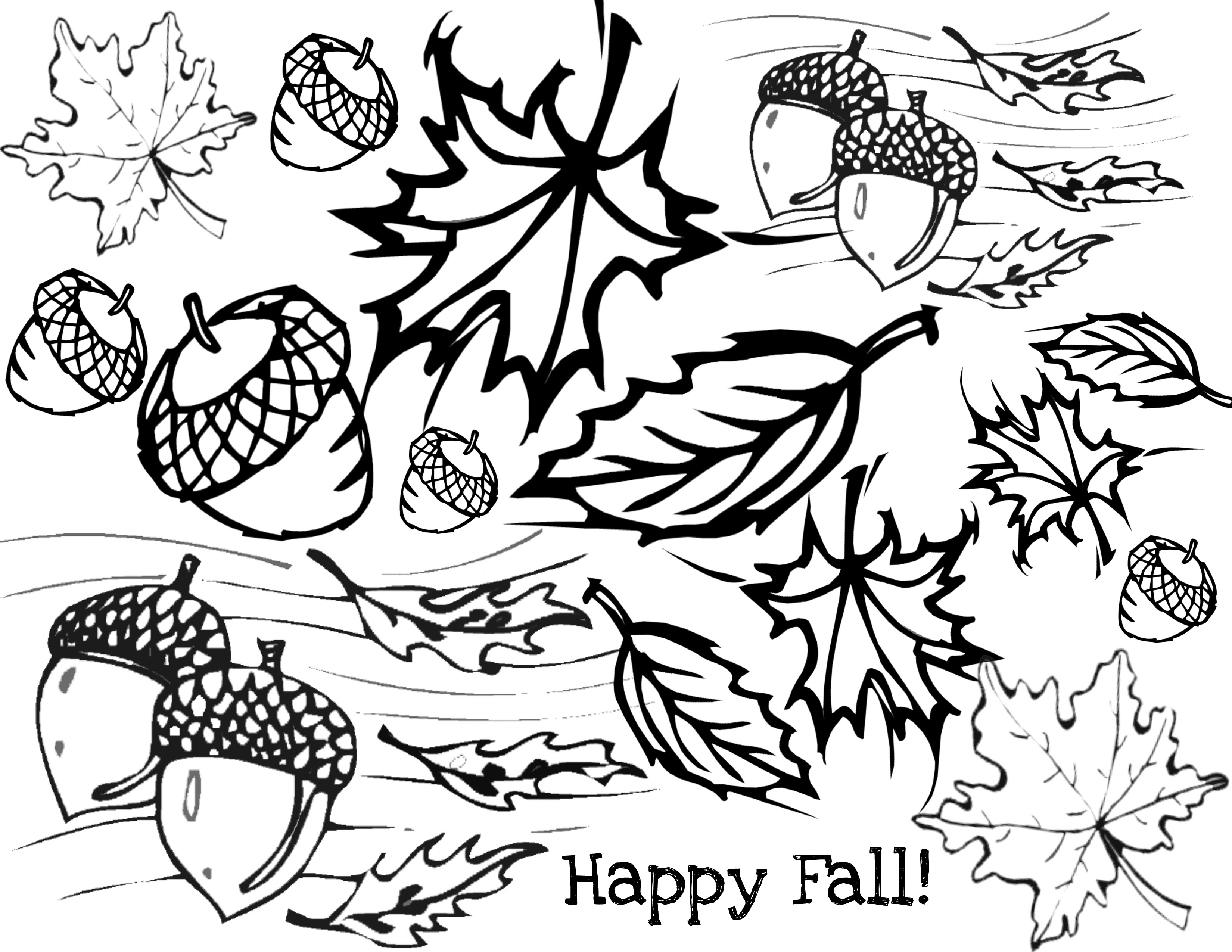 48 Top Happy Autumn Coloring Pages Pictures