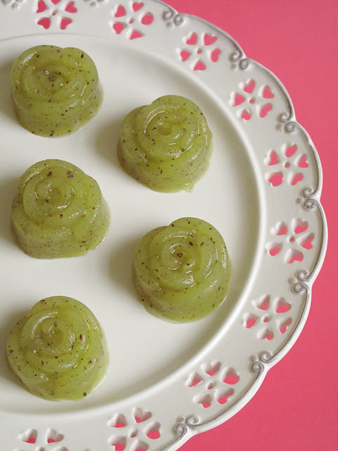 Gelatine di kiwi e lime