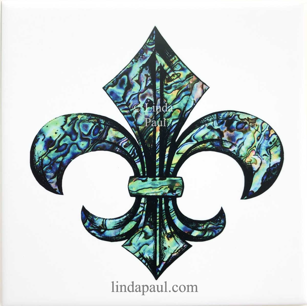 Fleur de lis Tile - Ceramic tiles 2x2 4x4 6x6 and 12 x 12 ...