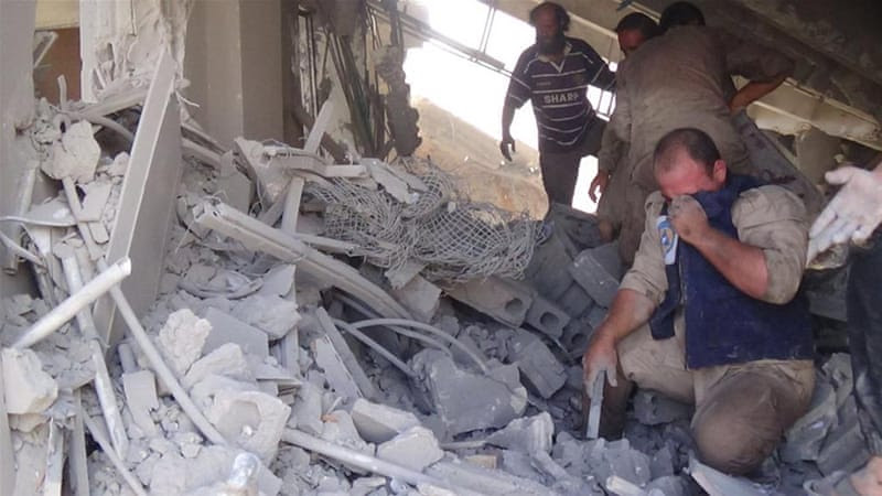 Civilian deaths are being reported from apparent air strikes by Russian fighter jets in several Syrian cities [Syria Civil Defense/AP]