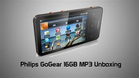 philips gogear gb android mp player unboxing youtube