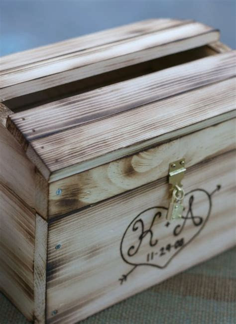 Wedding Card Box Rustic Personalized Wood item by