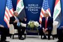 Iraq happy with U.S. troops, Trump says at talks over mission's future