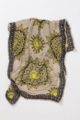 Anthropologie Jagged Sun Scarf