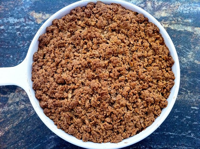 Maple Cheddar Apple Crumble, Baked