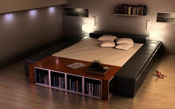 Contoh kamar tidur berkonsep modern minimalis terbaru