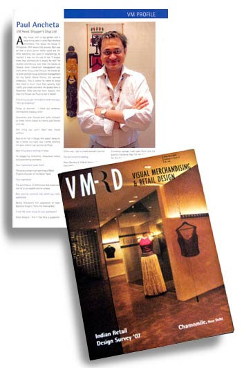 Interview at VM&RD Magazine