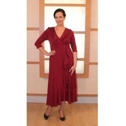 Платье Матекс «Любава». Цвет: бордовый