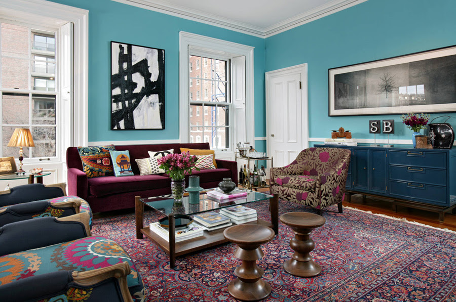 Mostly) Jewel Toned Living Rooms – design-