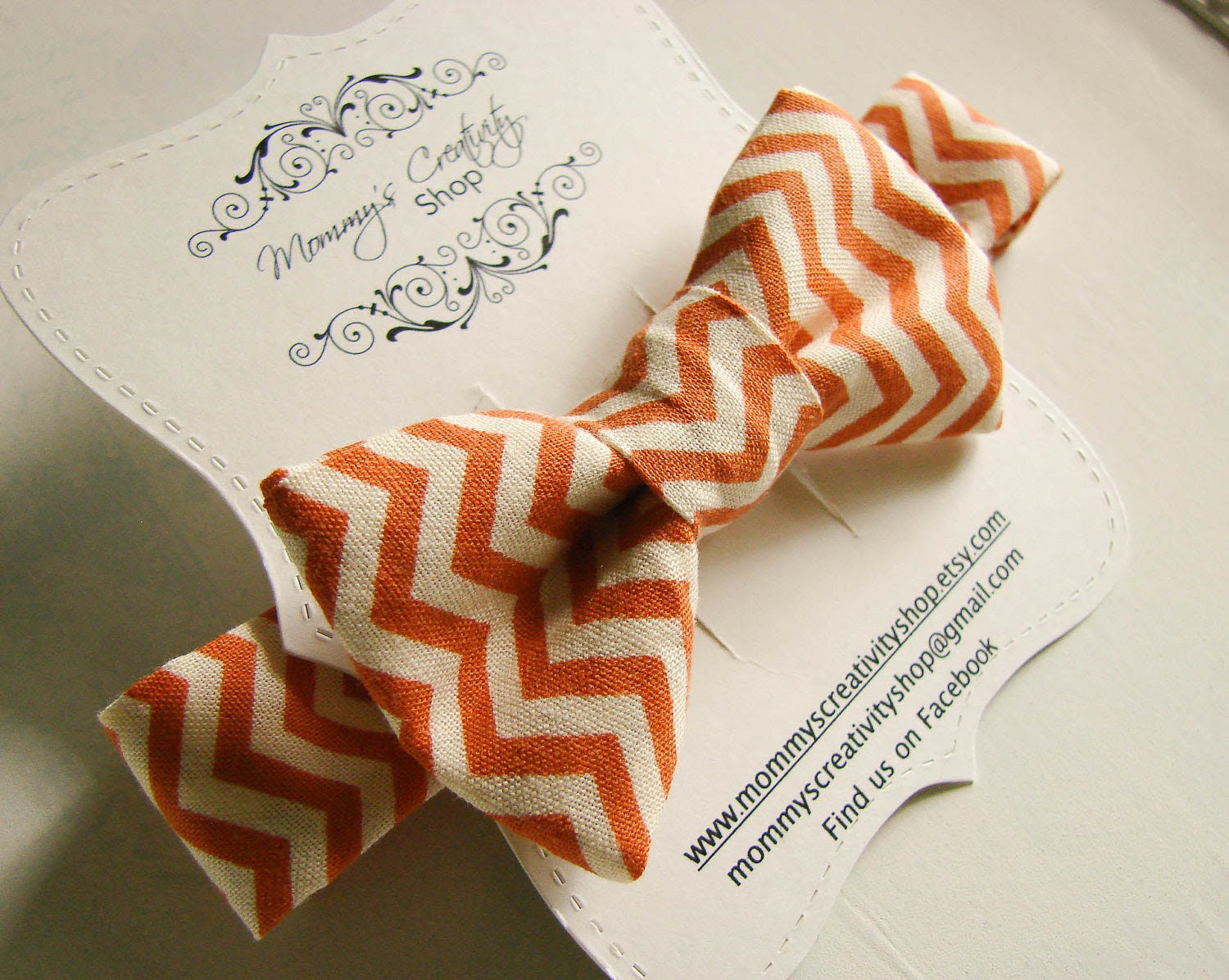 Zig Zag Orange Baby Bow Tie... toddler bow tie... infant bow tie... fall bow tie