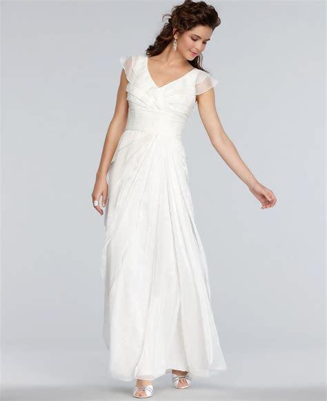 Adrianna Papell Dress, Cap Sleeve Pleated Empire Waist