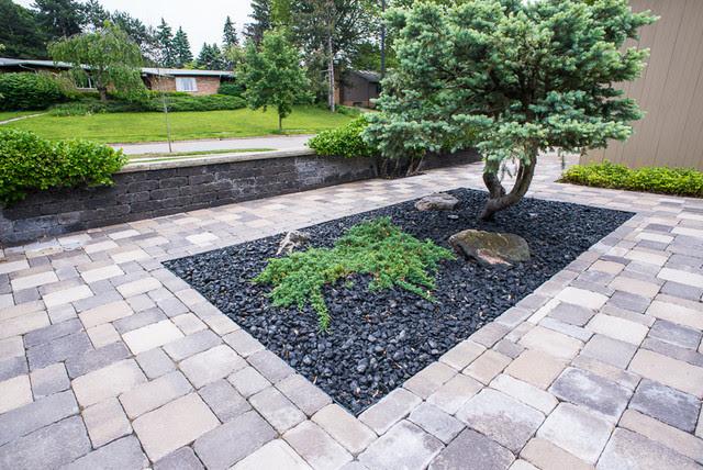 Modern Zen Garden Courtyard - Contemporary - Landscape ...