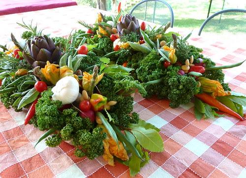 centrotavola verdure