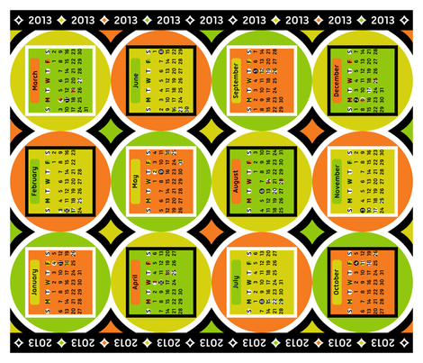 Geometric Citrus 2013 Calendar