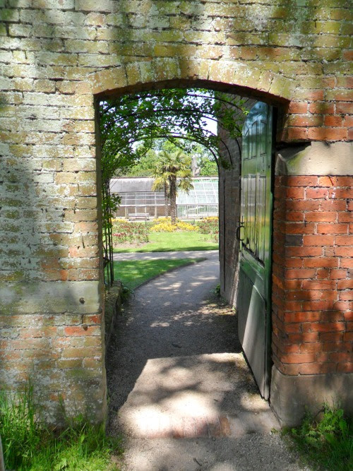 vwcampervan-aldridge:  Dappled shade in the Doorway to Walled garden, Calke Abbey, Derbyshire, England All Original Photography by http://vwcampervan-aldridge.tumblr.com