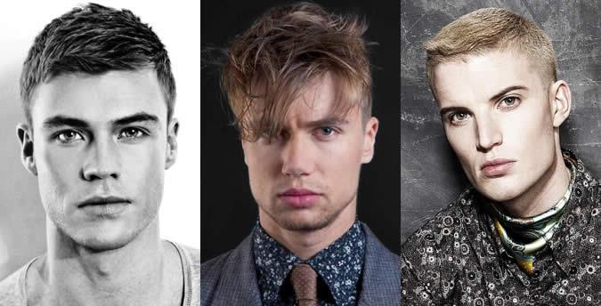 Praça rosto forma Penteado Exemplos masculinas