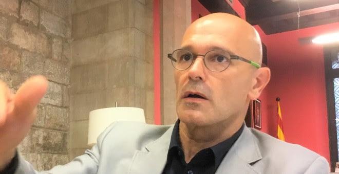 Raül Romeva, conseller d'Afers i Relacions Institucionals i Exteriors