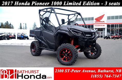 honda pioneer  limited edition  seats