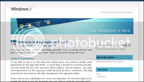 BlogEngine.Net Theme - Windows7