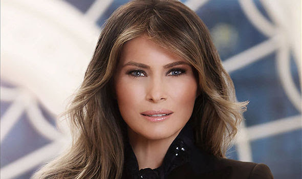 Melania Trump's looked every inch the model in her first official photographs