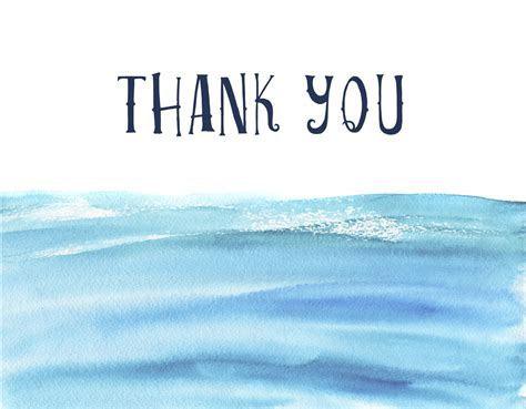 Nautical Sea   Thank You Card   Ivory Isle Designs