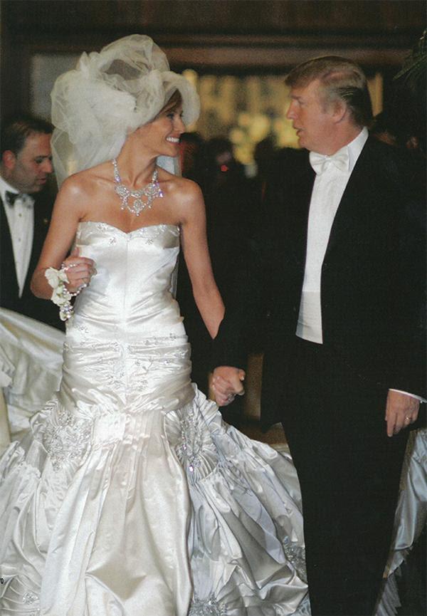 La boda de Donald Trump y Melania en 2005