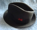 Mens Fedora 6 and 7 8s with a red feather