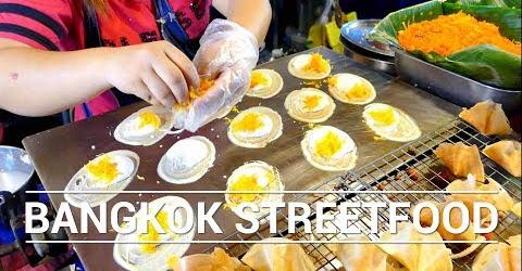 Bánh rán kem dừa béo ngậy Thái Lan Ẩm thực đường phố Thailand