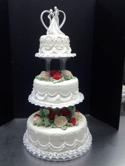 3 tier wedding cakes with pillars   tier wedding cake by