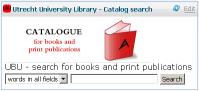 Catalog Search for Utrecht University