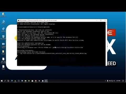 How to Uninstall ORDS in Oracle Apex 20.2
