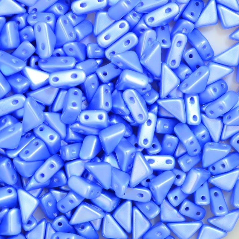 27888100-15 Shaped Beads - 2 hole Tango - Pastel Blue